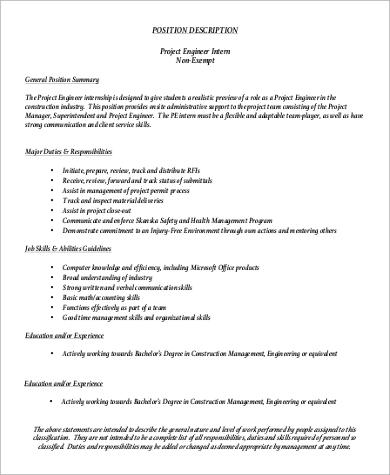 Quality Engineer Job Descriptions Quality Control Civil Engineer - project engineer job description