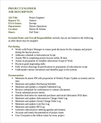 Construction Project Manager Job Description Duties and - oukasinfo