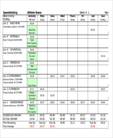 Sample Weekly Workout Plan - 7+ Examples in Word, PDF