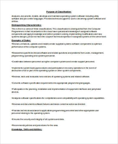System Programmer Job Description computer programmer job - system programmer job description