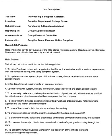 Controller Job Description Inventory Control Job Description Via - Assistant Controller Job Description