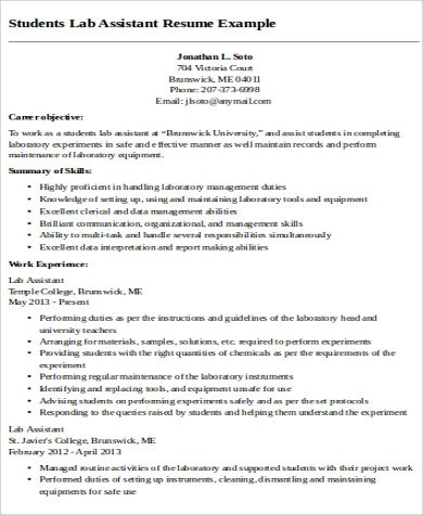 9+ Sample Teaching Assistant Resumes Sample Templates - Teaching Assistant Resume Example