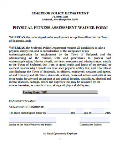 9+ Physical Assessment Form Samples Sample Templates