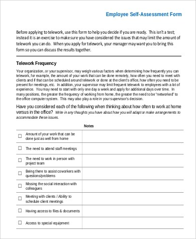 employee self assessment efficiencyexperts - employee self evaluation form