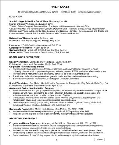 sample social worker resume 10 examples in word pdf school social worker - Sample Resume For Social Worker