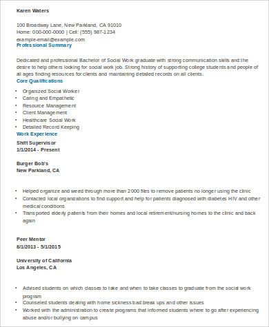 Sample Social Worker Resume - 10+ Examples in Word, PDF