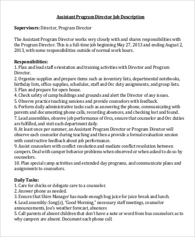 Managing Director Job Description gallery of director resume