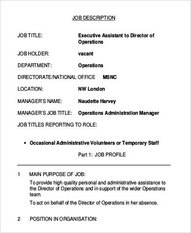 director job description