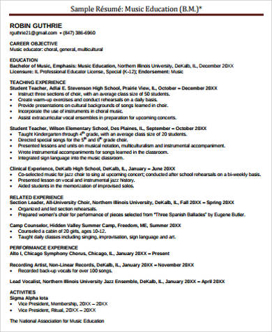 Music resume example Essay Academic Writing Service