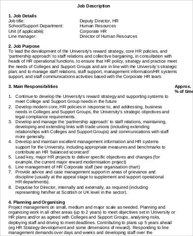 Human Resource Job Description  NodeResumeTemplate
