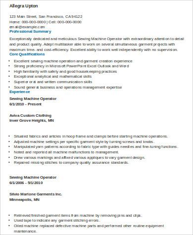 6+ Sample Machine Operator Resumes Sample Templates - sample machine operator resume