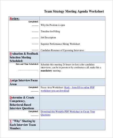 23+ Meeting Agenda Samples and Templates \u2013 PDF, Word Sample Templates