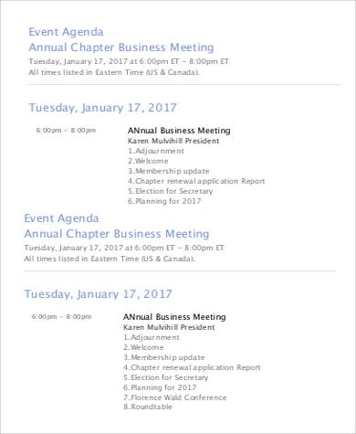 Event Agenda Sample - 9+ Examples in Word, PDF - event agenda sample