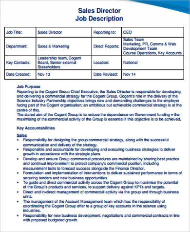 sales coordinator job description