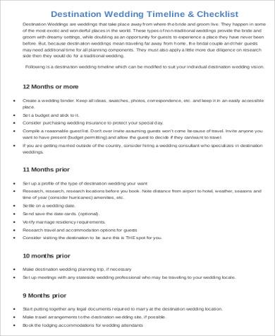 Wedding Agenda Sample - 7+ Examples in Word, PDF