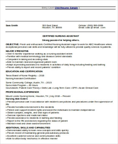 7+ Nursing Resume Objective Samples Sample Templates