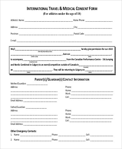 child travel consent form - solarfm - parent consent forms