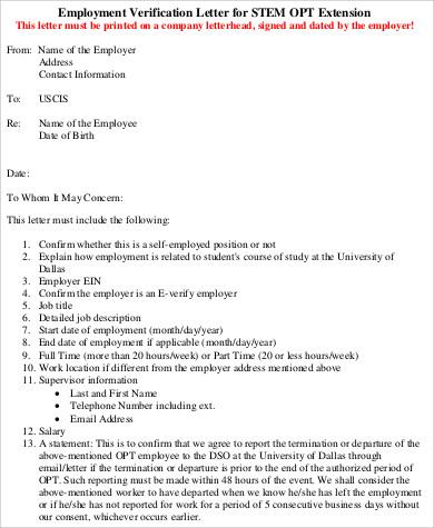 9+ Sample Job Verification Letters Sample Templates - Job Verification Letter