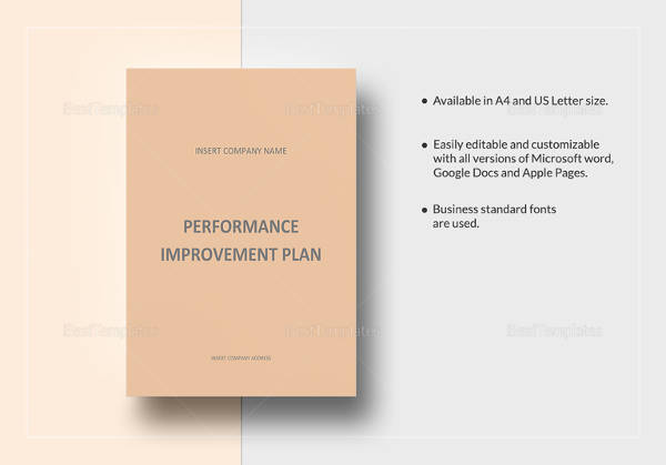 Performance Improvement Plan Example - 14+ Samples in Word, PDF