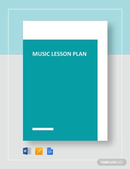 Sample Music Lesson Plan Template - 9+ Free Documents in PDF, Word