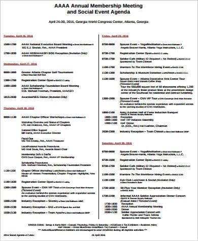 6+ Event Agenda Samples Sample Templates