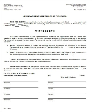Sample Lease Renewal Form - 9+ Examples in Word, PDF - lease renewal form