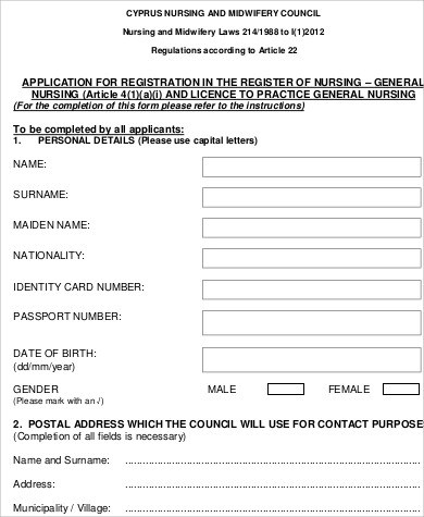 Sample General Application Form - 10+ Examples in Word, PDF