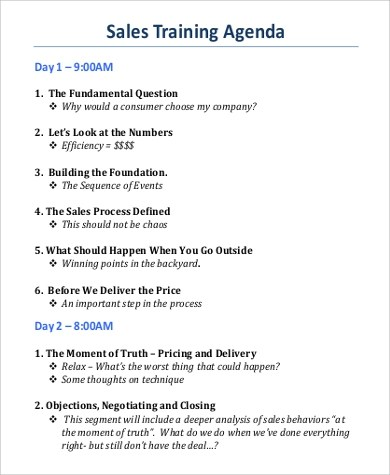 sample training agenda template - Josemulinohouse - training agenda template