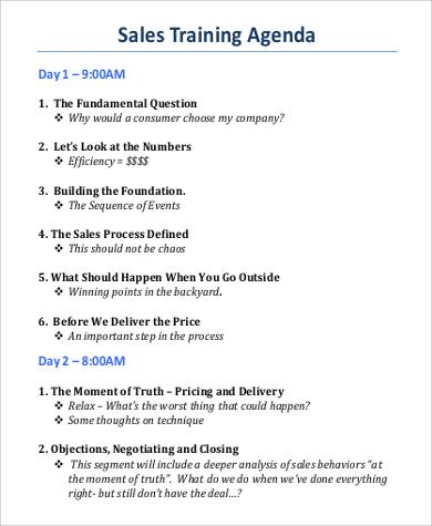 sample training agenda template - Josemulinohouse