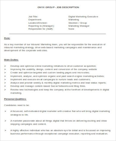 Sample Digital Marketing Resume - 8+ Examples in Word, PDF