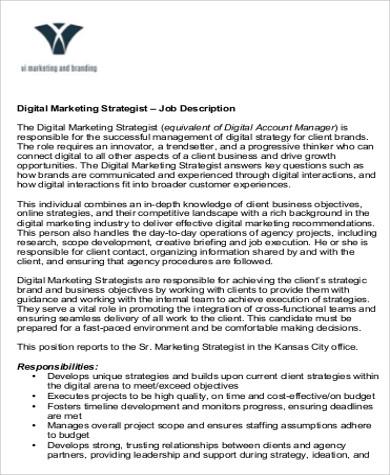 sample digital marketing resume 8 examples in word pdf digital strategist resume