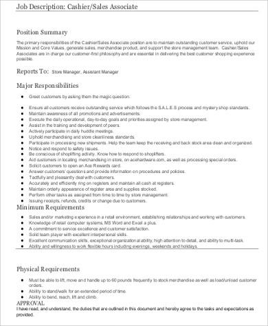 8+ Cashier Resume Samples Sample Templates - cashier resume samples