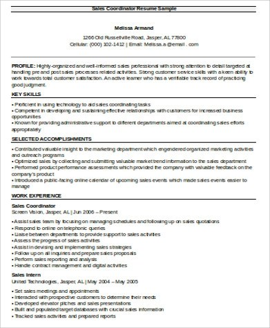 Sales Resume Sample - 11+ Free Sample, Example, Format, Download