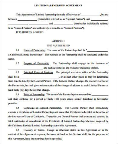 10+ Sample Partnership Agreements \u2013 PDF, DOC Sample Templates - partenership agreement