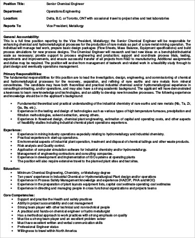 Environmental Engineer Job Description  Sample Ideas