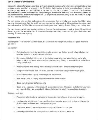 Senior Director Job Description | Env-1198748-Resume.Cloud