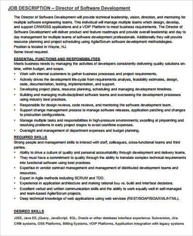 9+ Development Director Job Description Samples Sample Templates