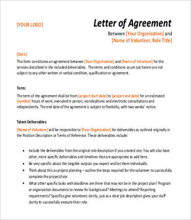 Sample Agreement Letter - 10+ Examples in Word, PDF