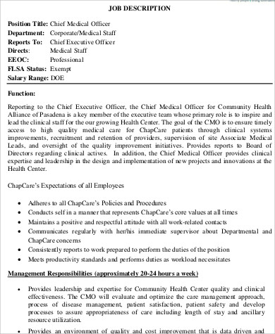 medical officer job description hitecauto - chief executive officer job description