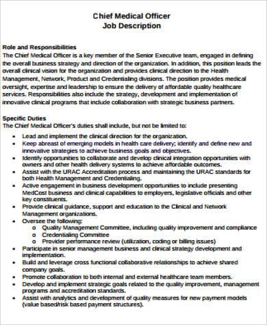 Medical Job Description Sample - 9+ Examples in Word, PDF