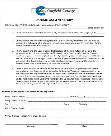 9+ Payment Agreement Form Sample - Free Samples, Examples, Format - agreement form sample