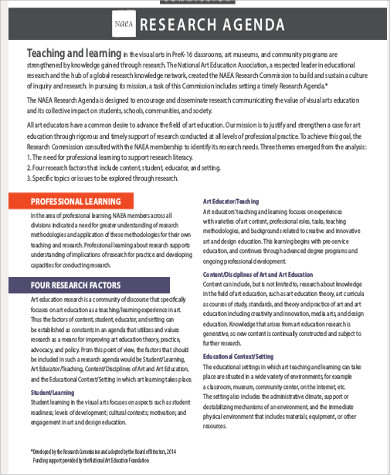 7+ Research Agenda Example Sample Templates