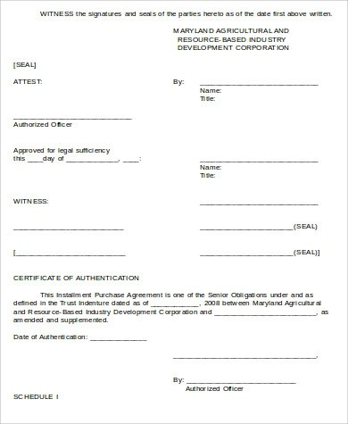 Sample Purchase Agreement Form - 8+ Examples in Word, PDF