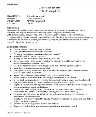 9+ Medical Examiner Job Description Samples Sample Templates - medical examiner job description