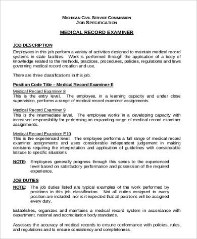 Medical Examiner Job Description medical examiner job description - medical examiner job description