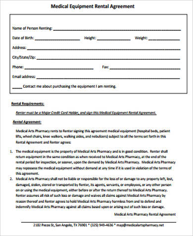 7+ Equipment Rental Agreement Sample - Free Sample, Example, Format