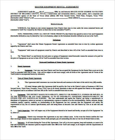 product rental agreement template templatebillybullock - sample equipment rental agreement