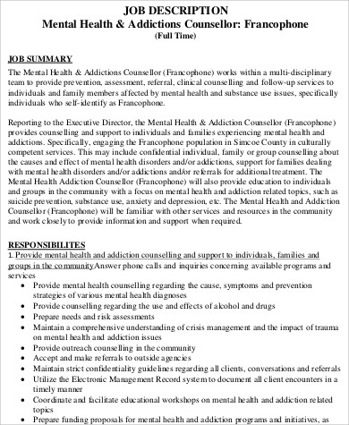 Cover Letter For Counseling Job. Mental Health Counselor Cover Letter ...