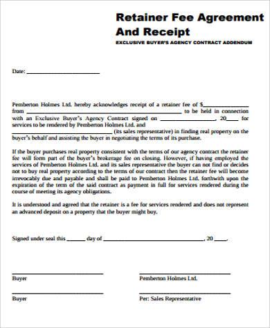 sle retainer agreement template - Wwwsubtxt