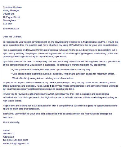 Sales executive cover letter samples \u2013 Essay Birdie